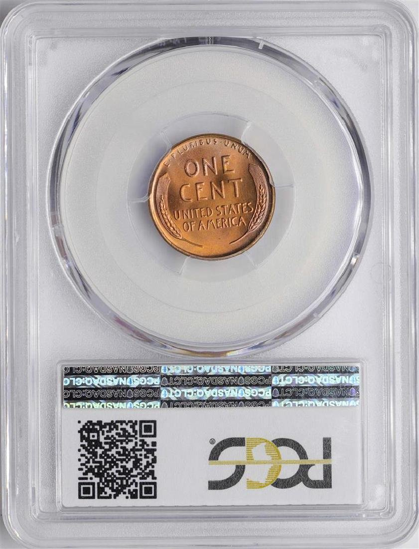 1945 Lincoln Wheat Cent Coin PCGS MS66RD PREMIUM TONING - 2