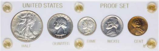 1938 5 Coin Proof Set