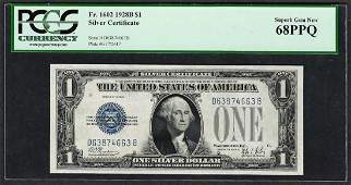 1928B 1 Funnyback Silver Certificate Note Fr1602 PCGS