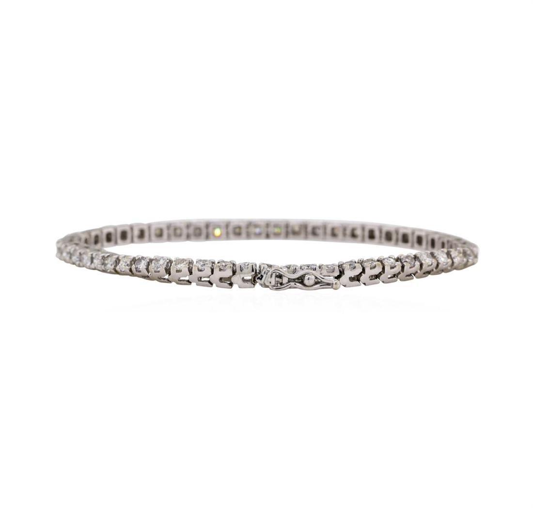 14KT White Gold 2.60 ctw Diamond Bracelet - 2