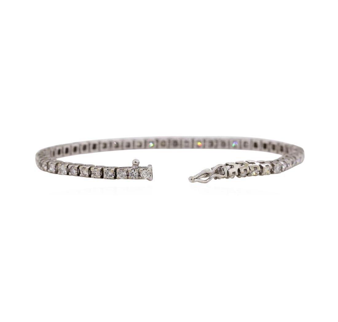 14KT White Gold 2.60 ctw Diamond Bracelet - 3