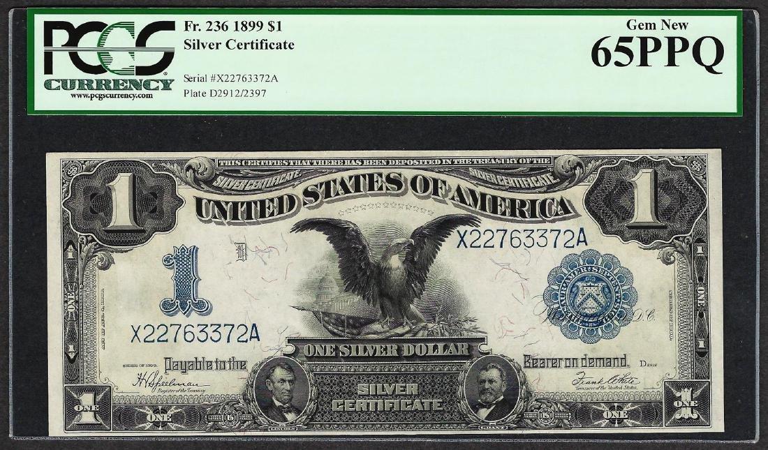 1899 $1 Black Eagle Silver Certificate Note Fr.236 PCGS