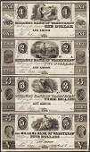 Uncut Sheet 1800s 1235 Millers Bank of