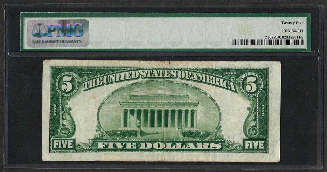 1934A $5 North Africa Silver Certificate WWII Emergency - 2