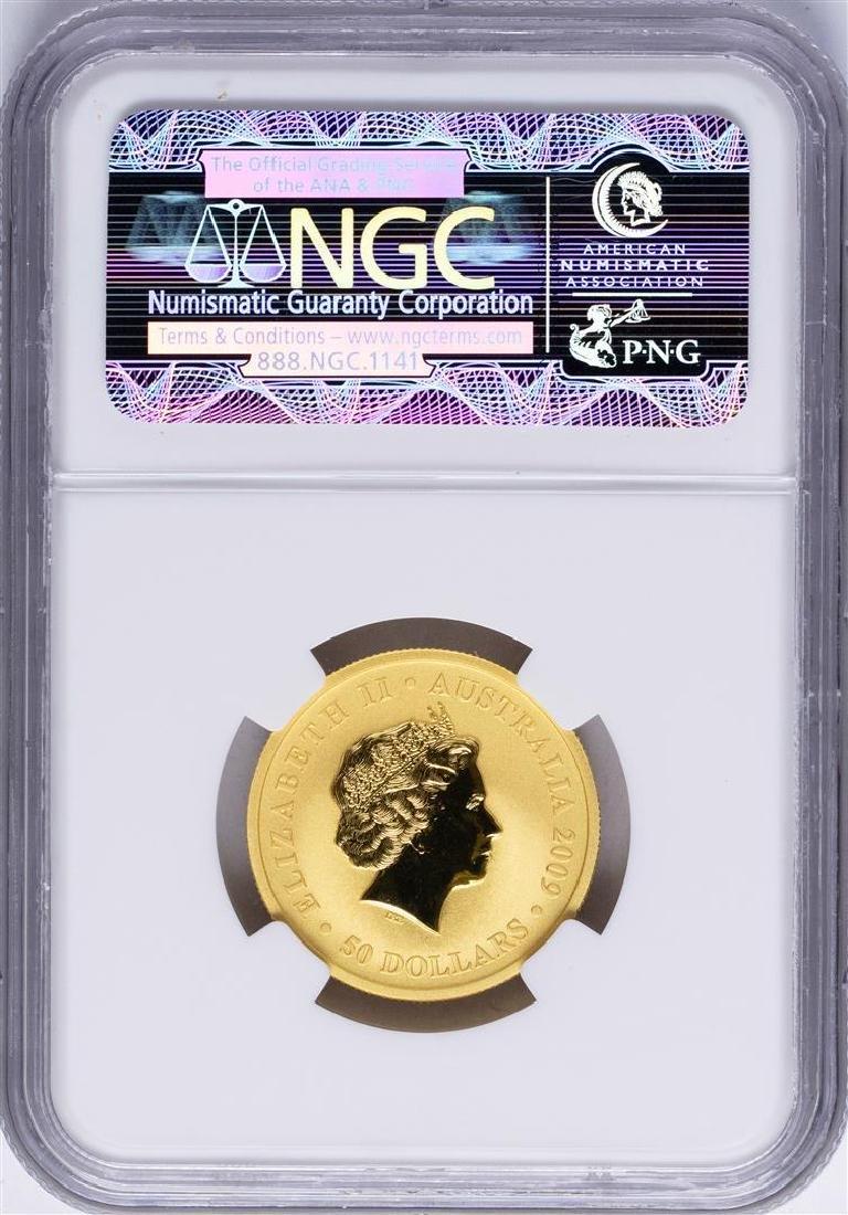 2009P $50 Australia Kangaroo Gold Coin NGC MS69 - 2
