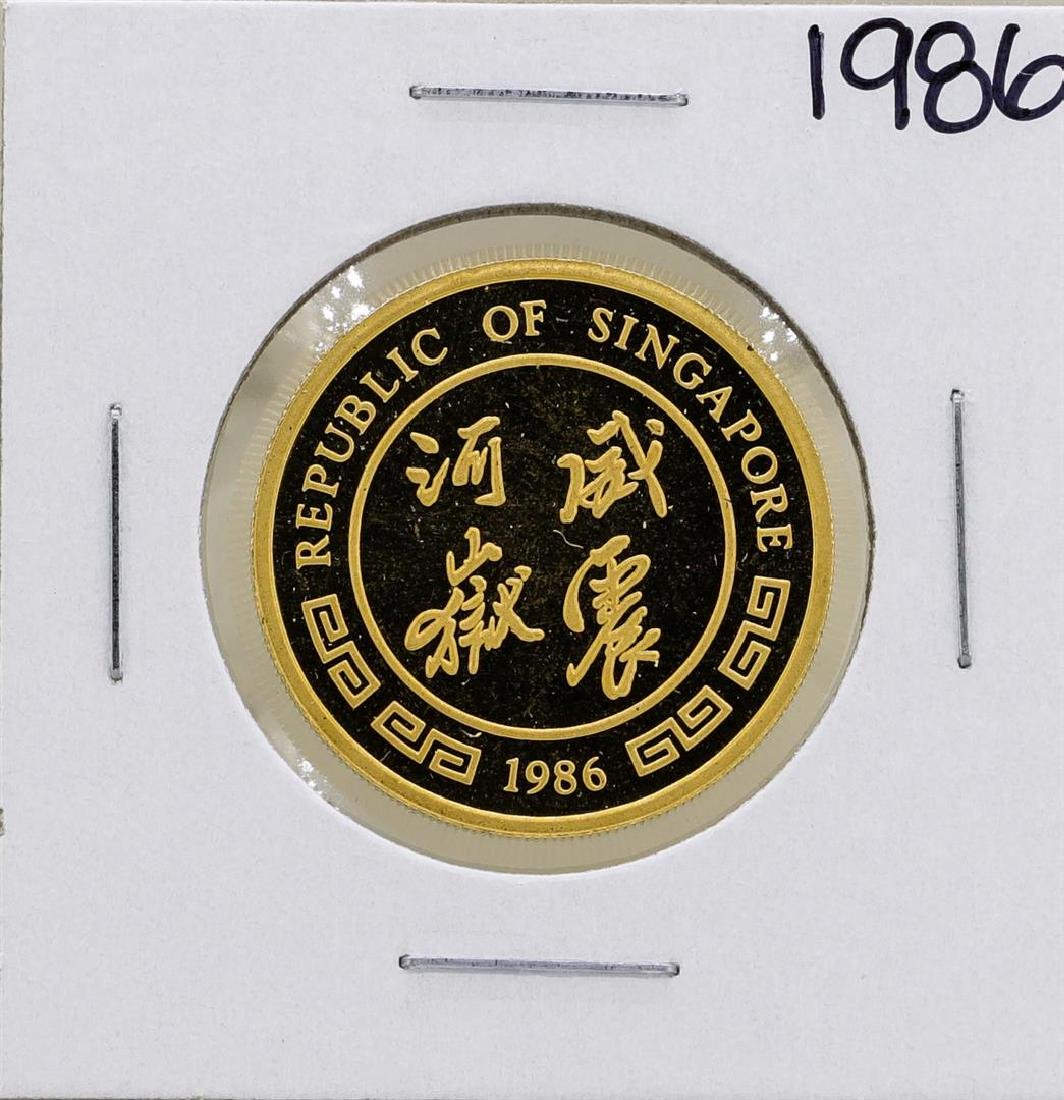 1986 Singapore 1/2 Oz. Gold Coin Year of the Tiger - 2