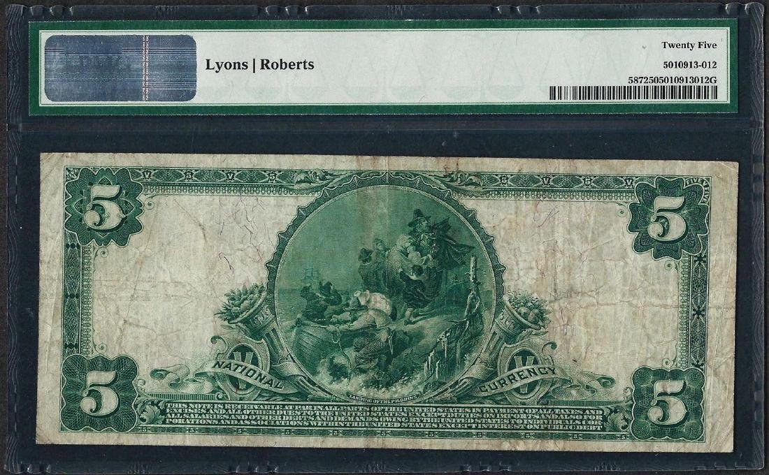 1902 $5 National Bank of St. Louis, MO CH# 587 National - 2