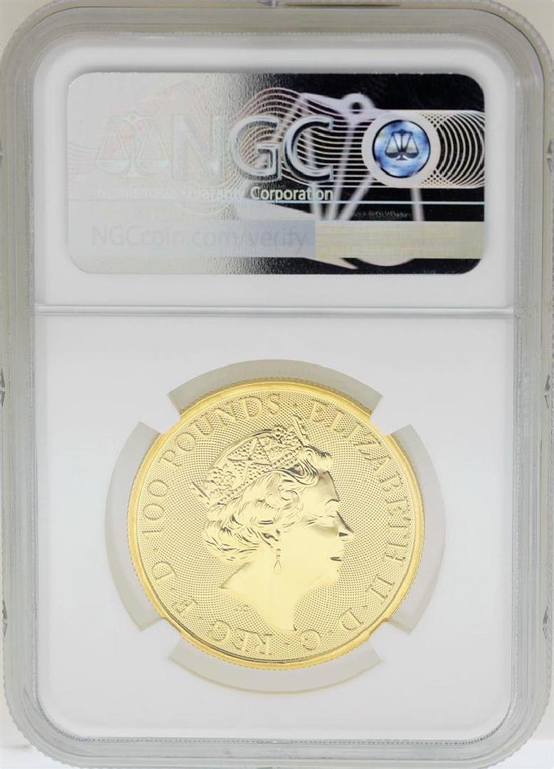 2018 Great Britain 100 Pounds The Queens Beasts Gold - 2