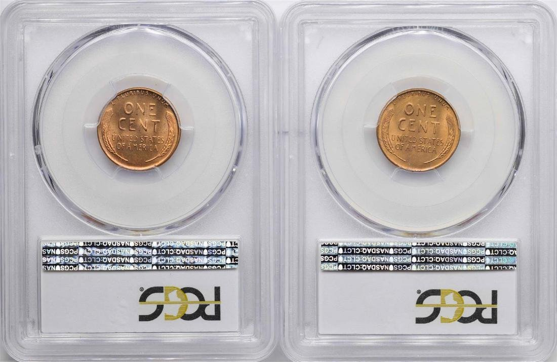 Lot of (2)1952-S Lincoln Wheat Cent Coins PCGS MS66RD - 2