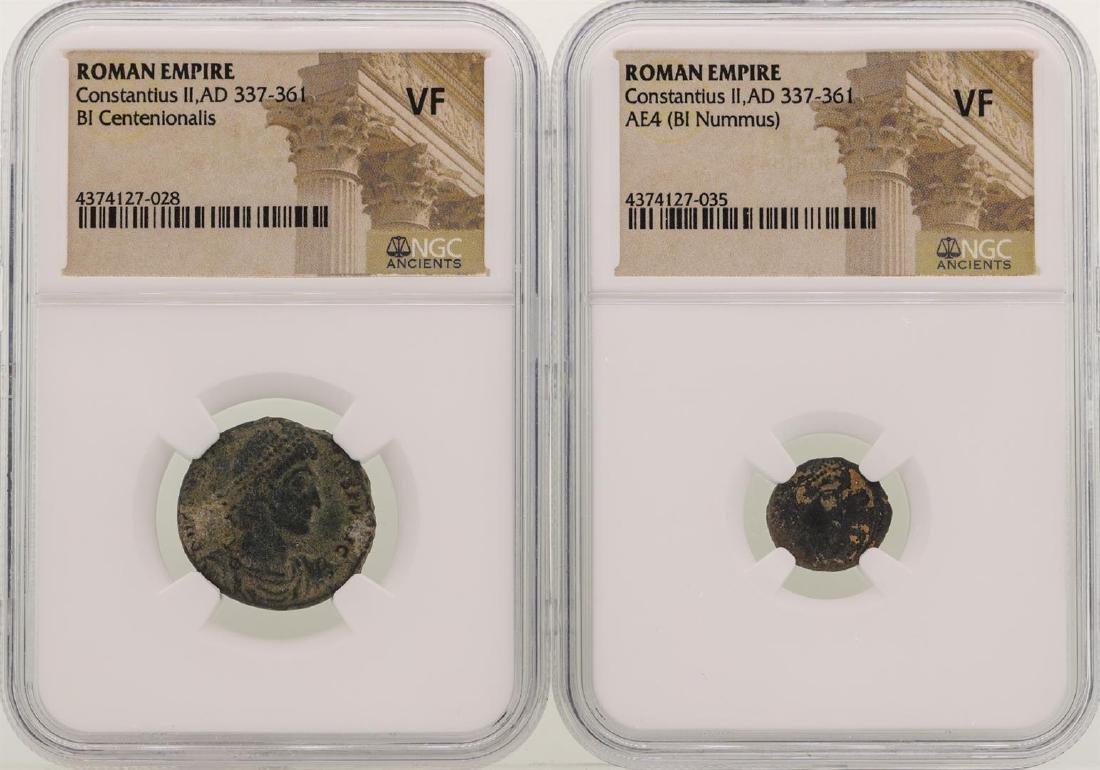 Lot of Constantius II A.D 337-361 Ancient Roman Empire
