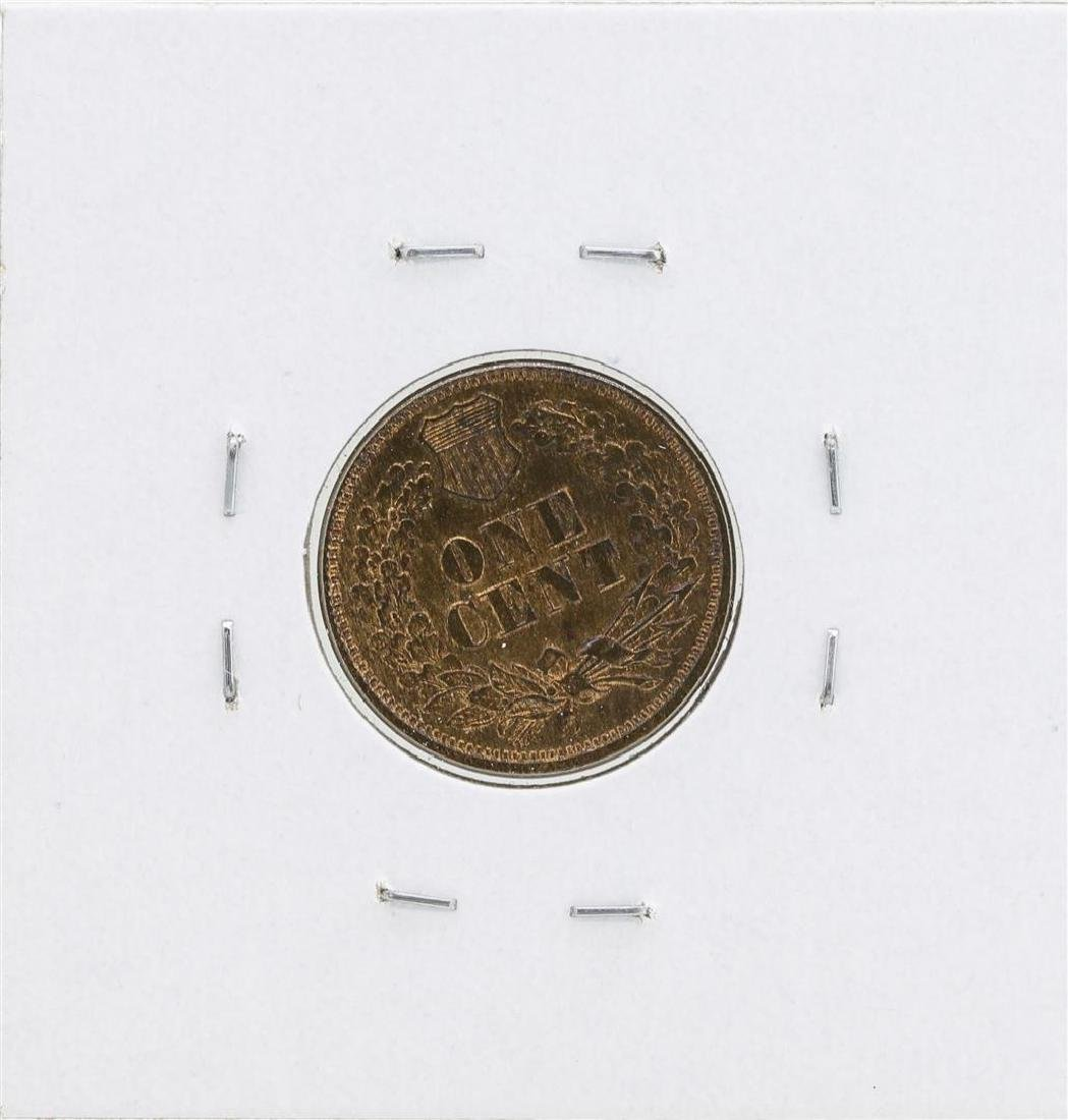 1866 Indian Head Cent Coin - 2
