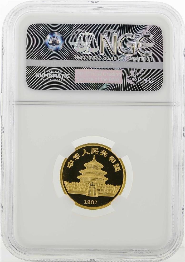 1987P China 25 Yuan Panda Gold Coin NGC PF69 Ultra - 2