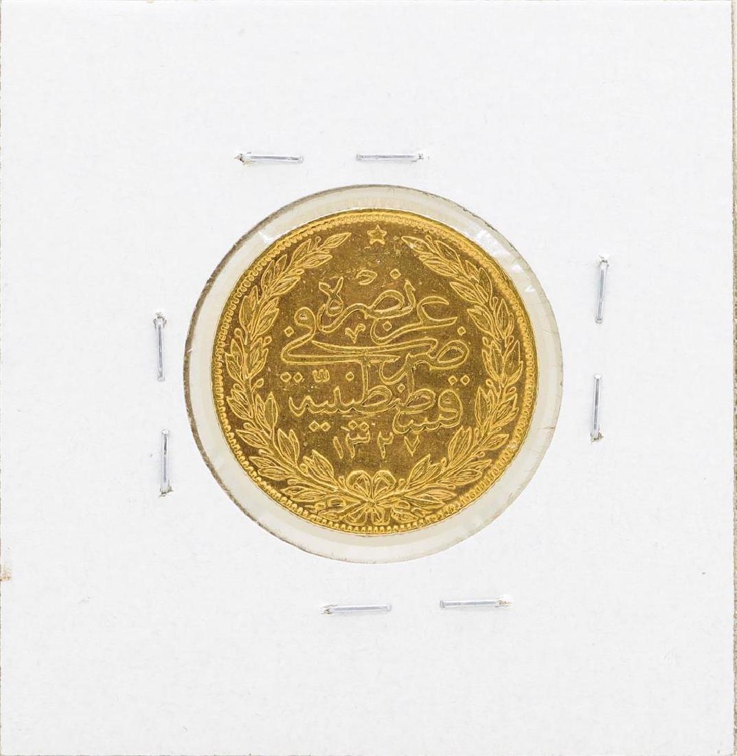 1909 Turkey 100 Kurush Gold Coin - 2
