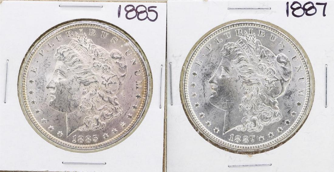 Lot of 1885 & 1887 $1 Morgan Silver Dollar Coins