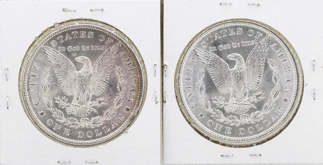 Lot of 1885 & 1887 $1 Morgan Silver Dollar Coins - 2