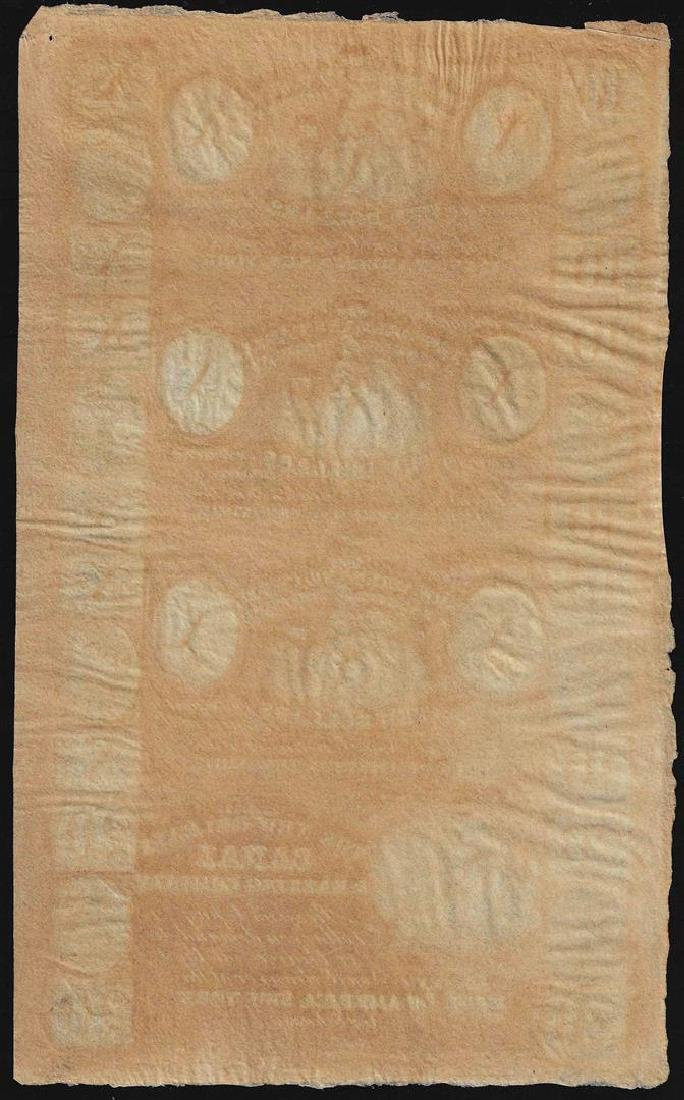 Uncut Sheet of $10 New Orleans Canal & Banking Company - 2