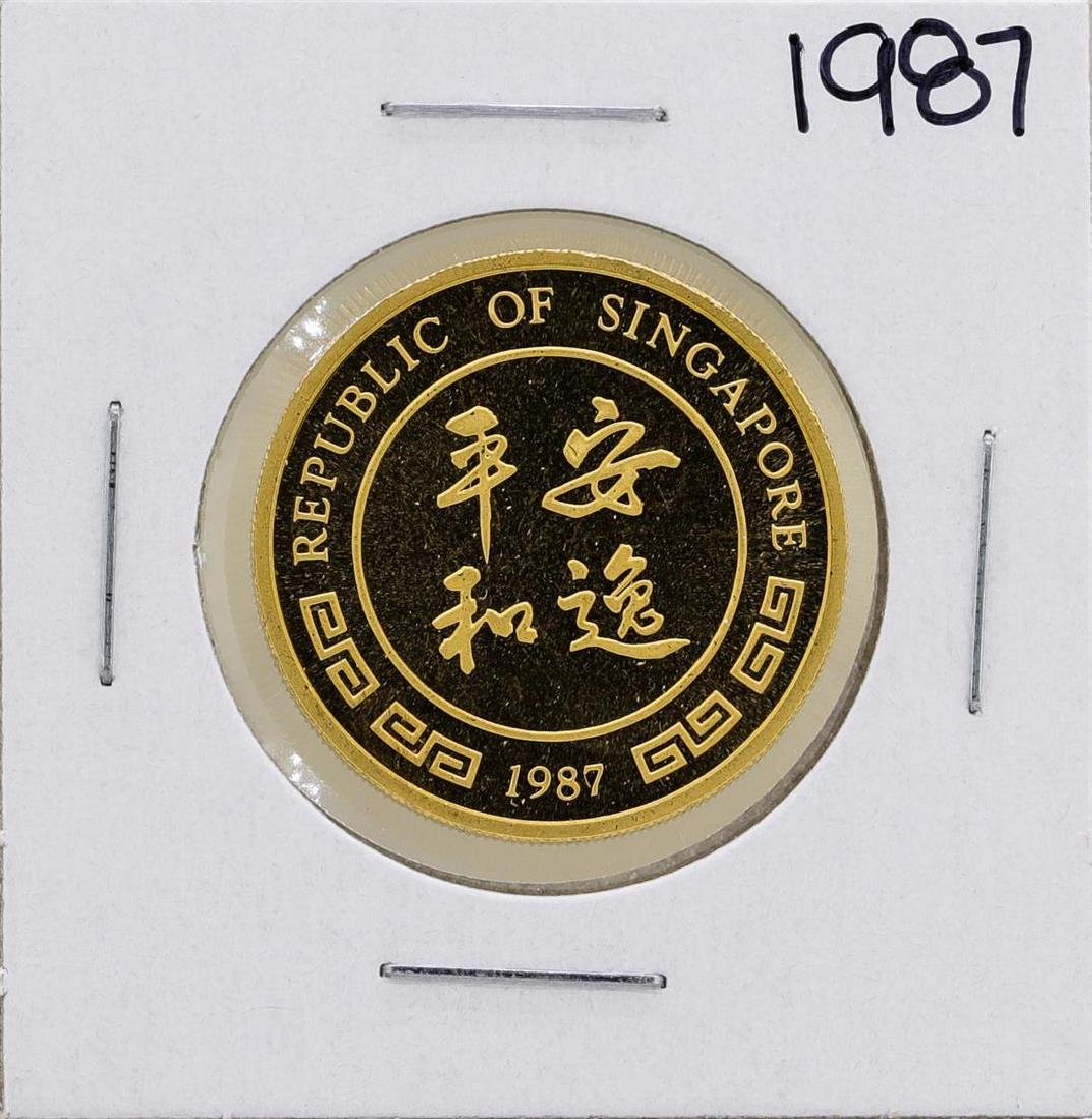 1987 Singapore 1/2 Oz. Gold Coin Year of the Rabbit - 2