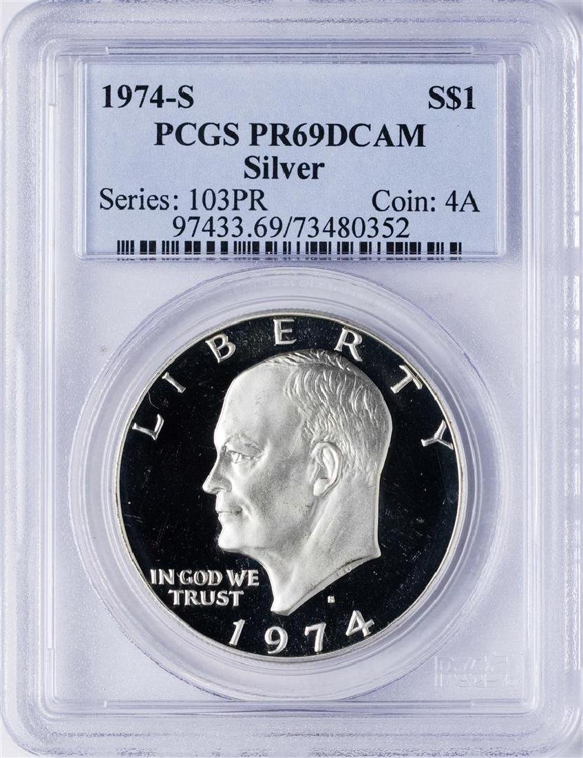 1974-S $1 Ike Eisenhower Proof Silver Dollar Coin PCGS