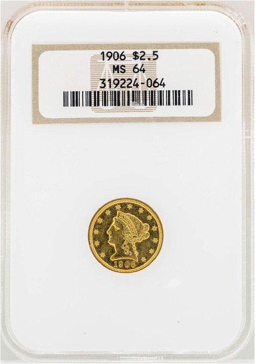 1906 $2 1/2 Liberty Head Quarter Eagle Gold Coin NGC