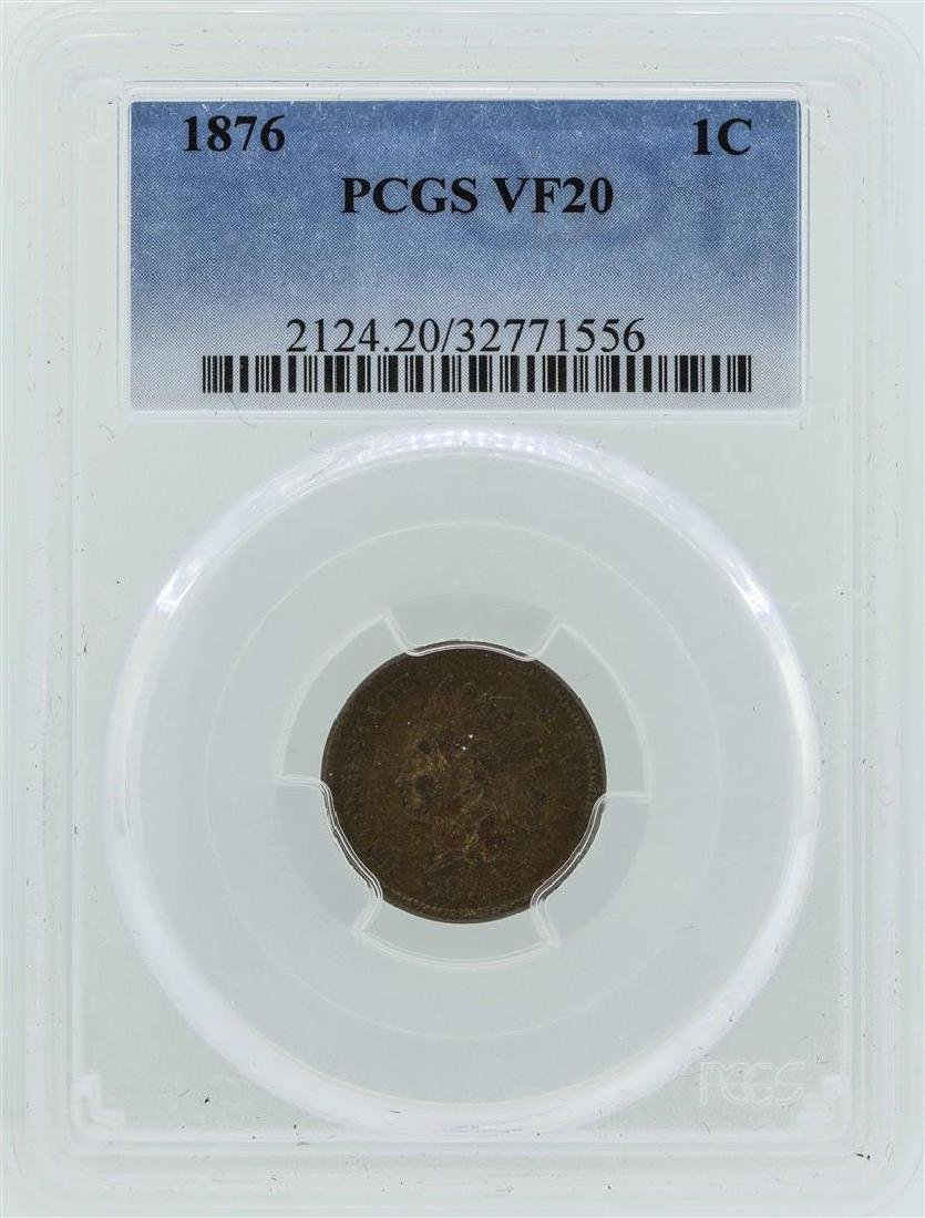 1876 Indian Head Cent Coin PCGS VF20