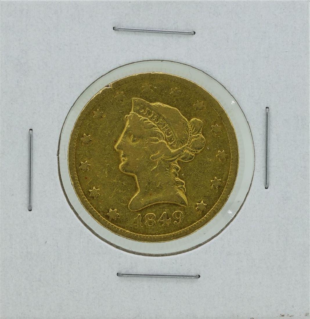 1849 $10 Liberty Head Eagle Gold Coin