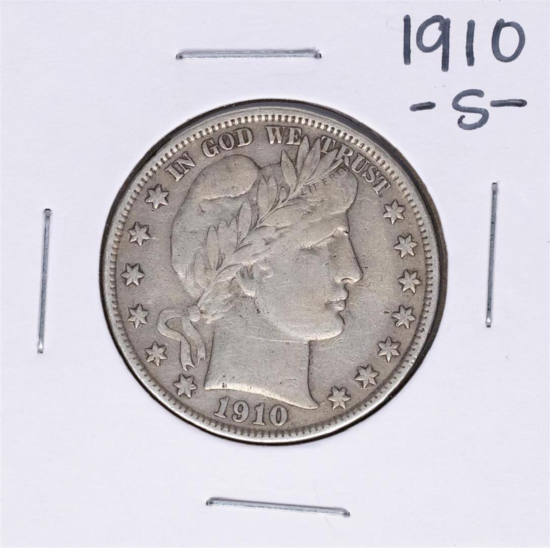 1910-S Barber Half Dollar Coin