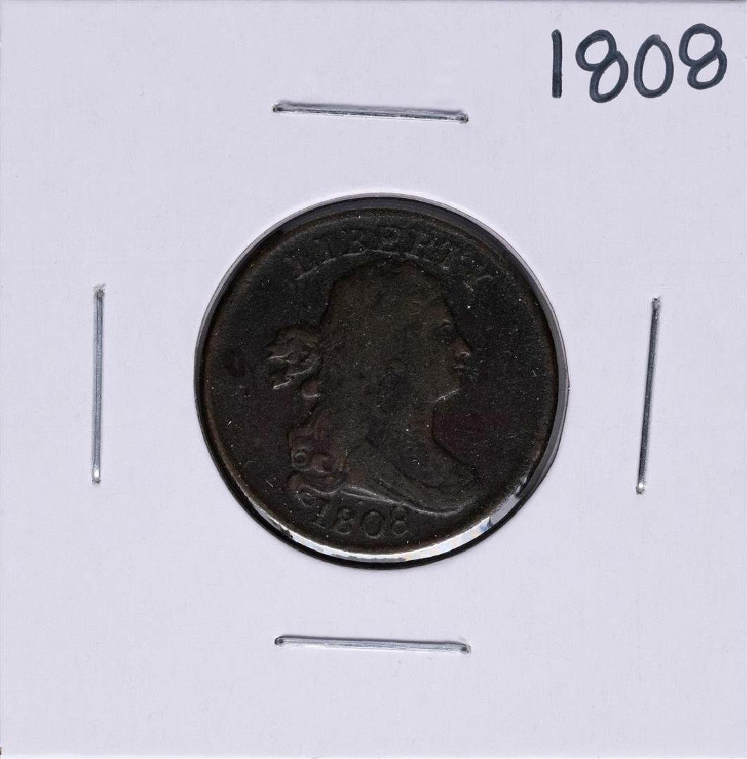 1808 Draped Bust Half Cent Coin