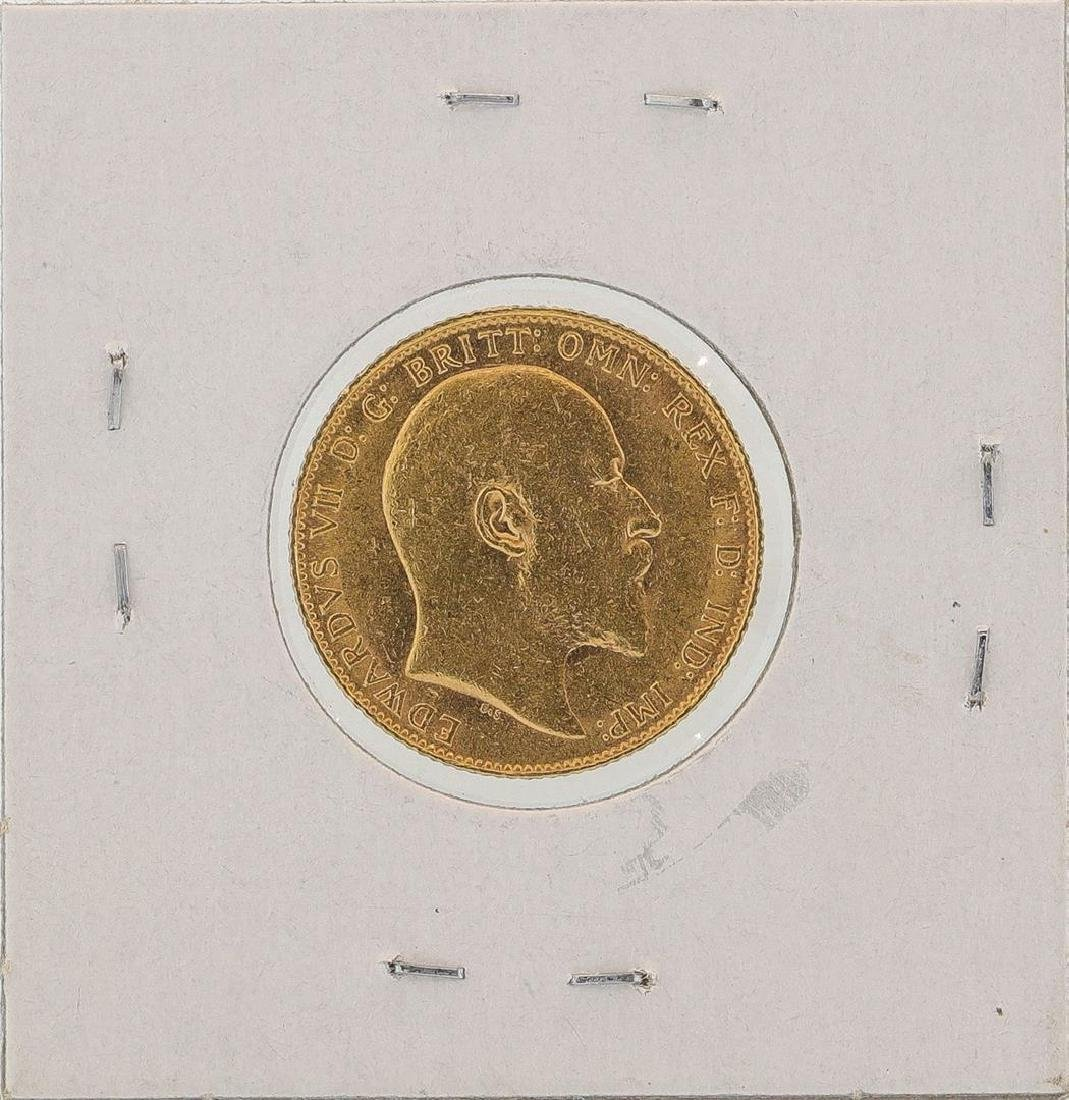 1907 Great Britain Sovereign Gold Coin - 2