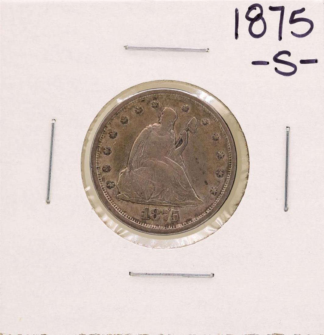 1875-S Seated Twenty Cent Piece Coin