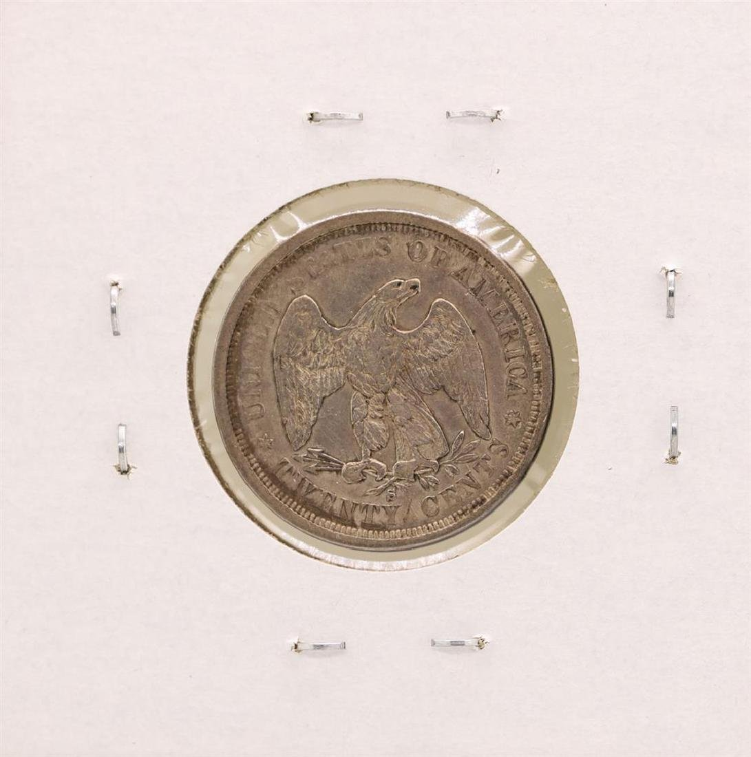1875-S Seated Twenty Cent Piece Coin - 2