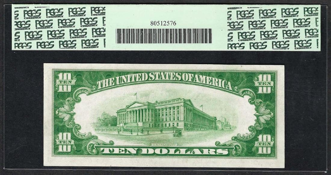 1928B $10 Federal Reserve Note Fr.2002a PCGS Very - 2