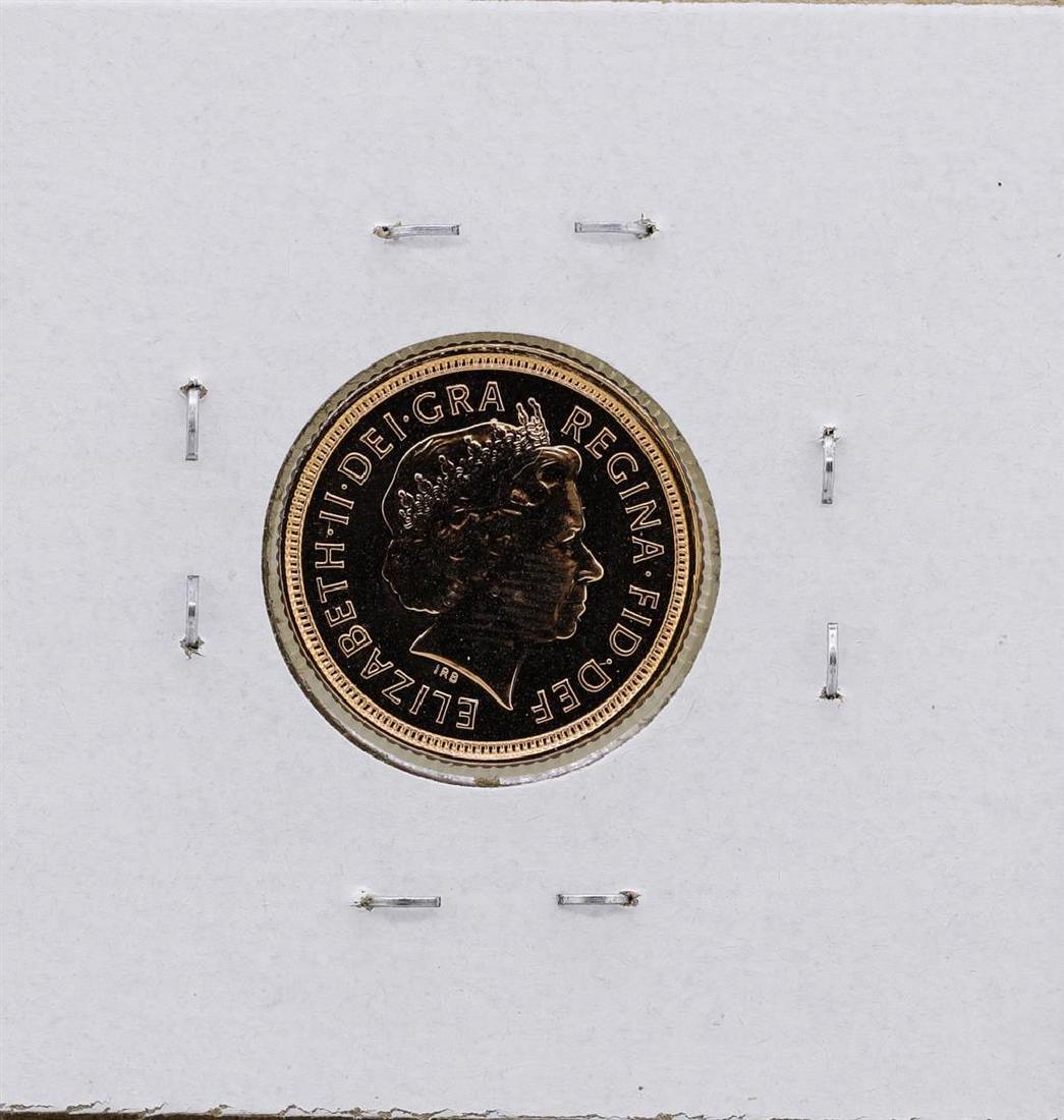 2004 Great Britain Elizabeth II 1/2 Sovereign Gold Coin - 2