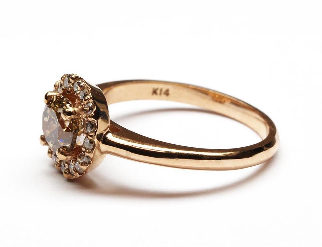 14KT Rose Gold 1.27 ctw Round Cut Diamond Engagement - 2