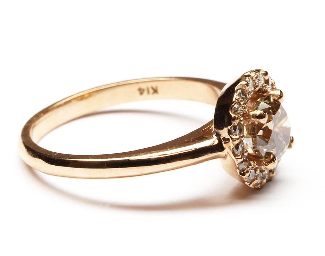 14KT Rose Gold 1.27 ctw Round Cut Diamond Engagement - 3