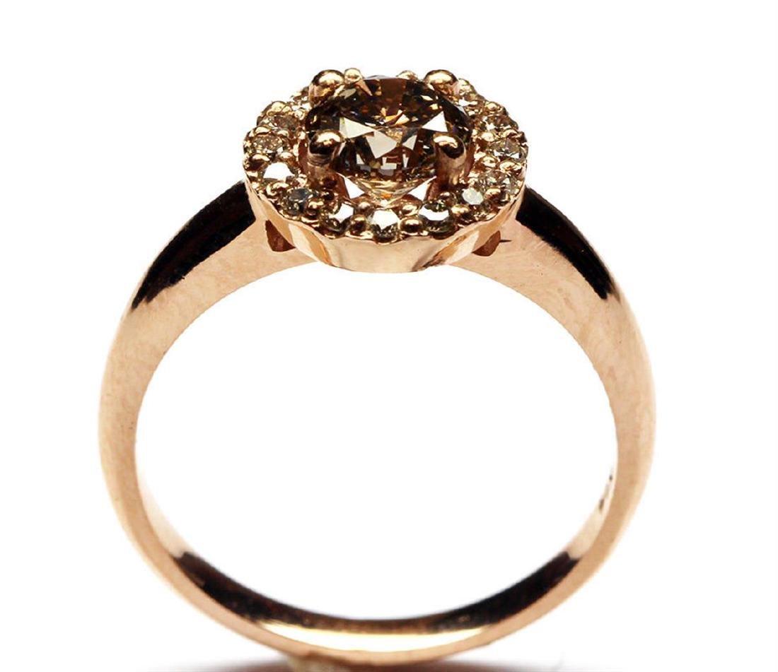 14KT Rose Gold 1.27 ctw Round Cut Diamond Engagement - 4