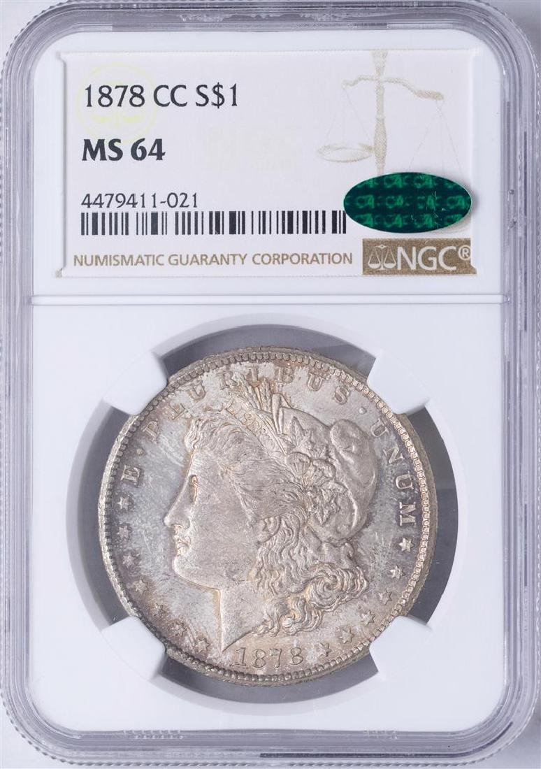 1878-CC $1 Morgan Silver Dollar Coin NGC MS64 CAC