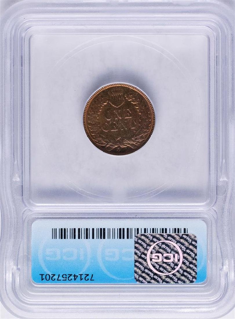 1886 Indian Head Cent Coin ICG MS64RB - 2