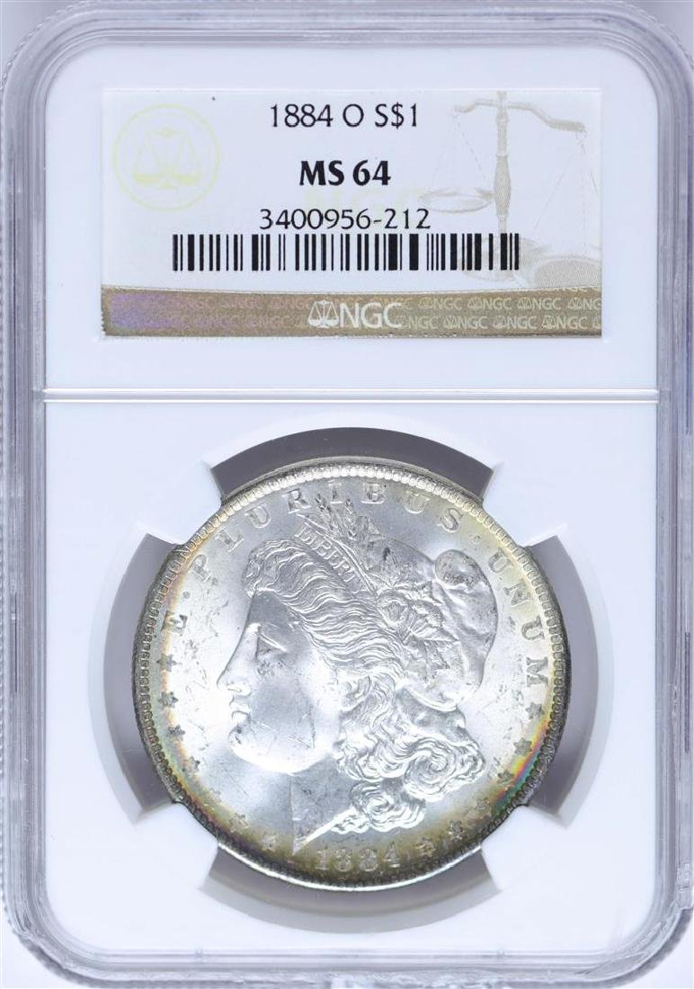 1884-O $1 Morgan Silver Dollar Coin NGC MS64 Nice