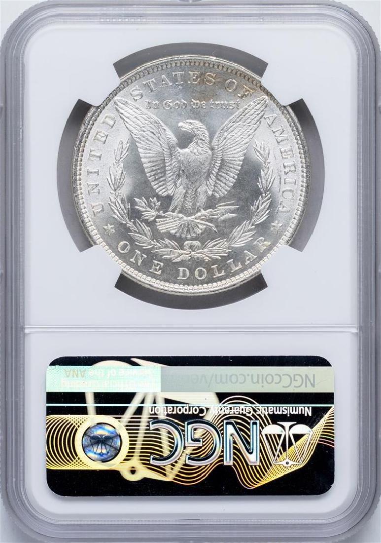 1879 $1 Morgan Silver Dollar Coin NGC MS64 Nice Toning - 2