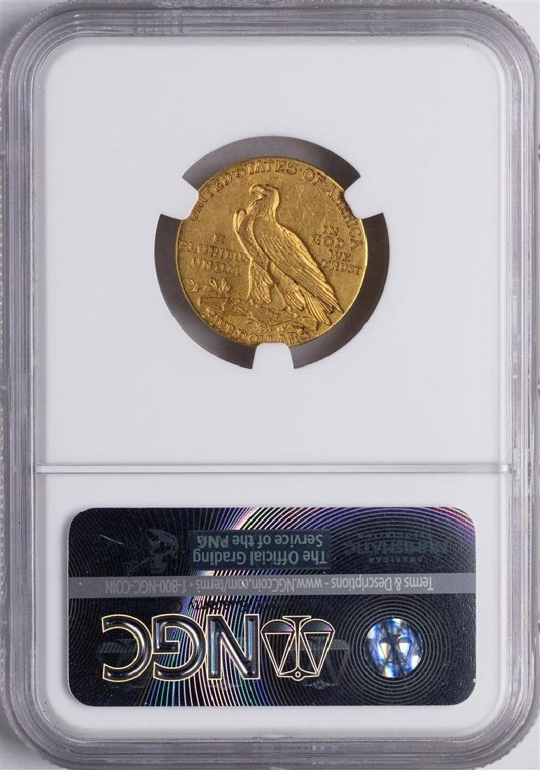 1909-S $5 Indian Head Half Eagle Gold Coin NGC XF40 - 2