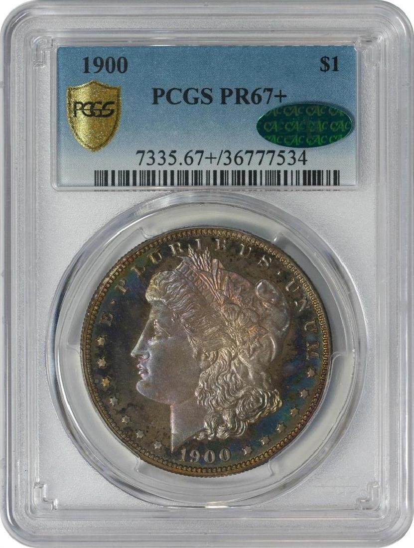 1900 $1 Proof Morgan Silver Dollar Coin PCGS PR67+ CAC - 4