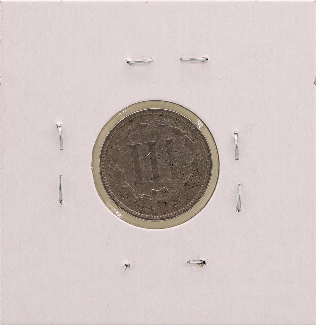 1869 Nickel Three Cent Piece Coin - 2