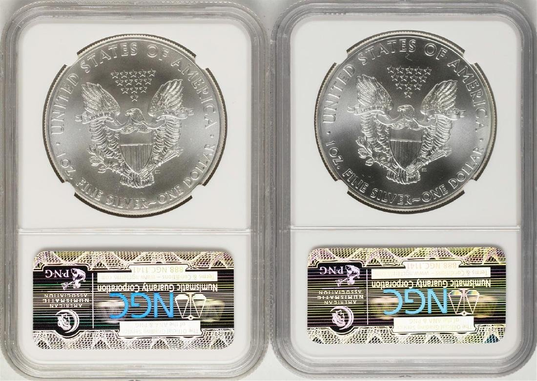 Lot of 2014-2015 $1 American Silver Eagle Coins NGC - 2