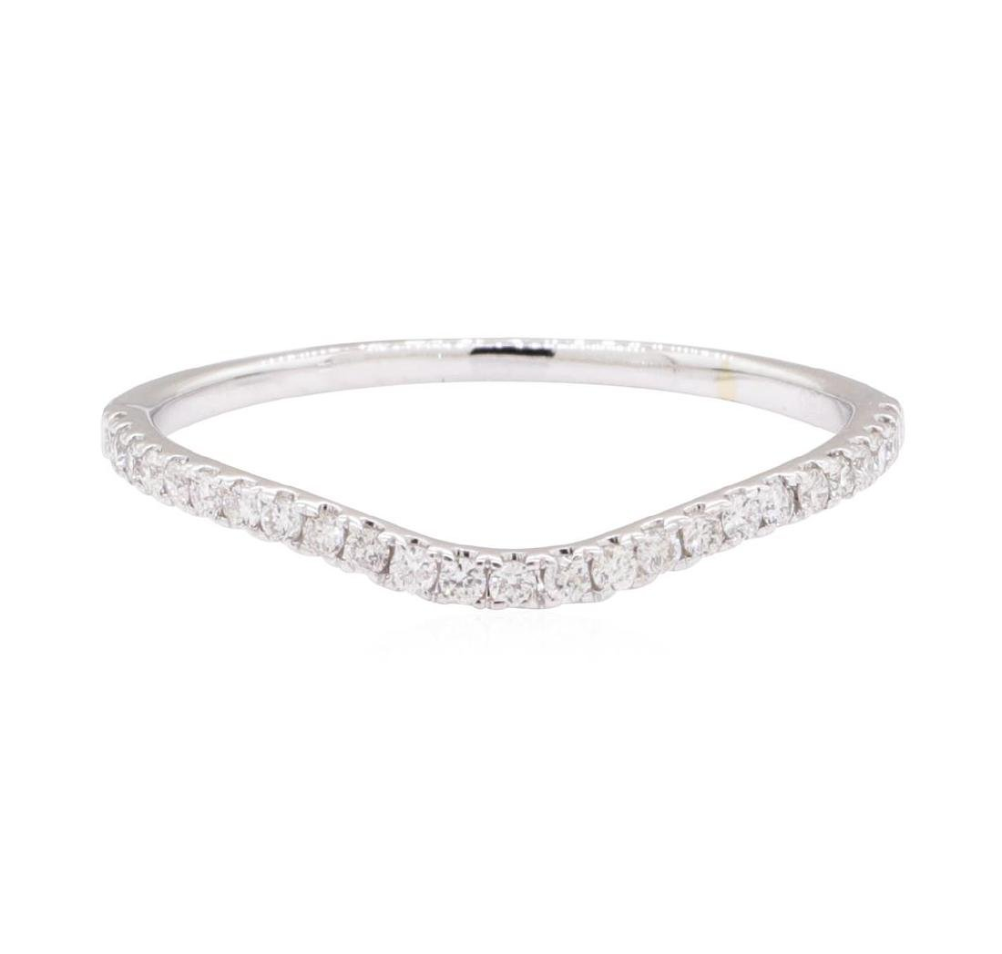 18KT White Gold 0.20 ctw Diamond Ring - 2