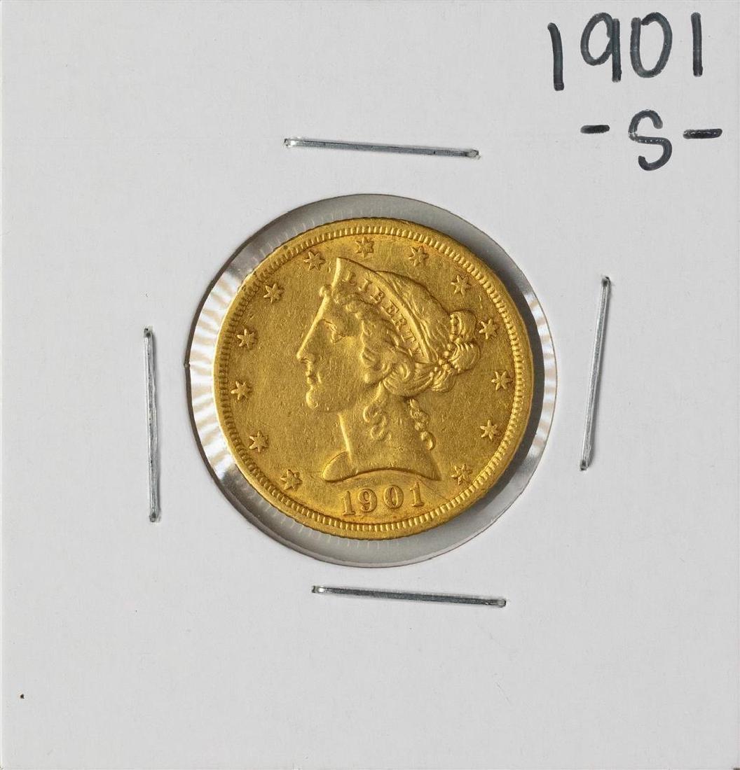 1901-S $5 Liberty Head Half Eagle Gold Coin