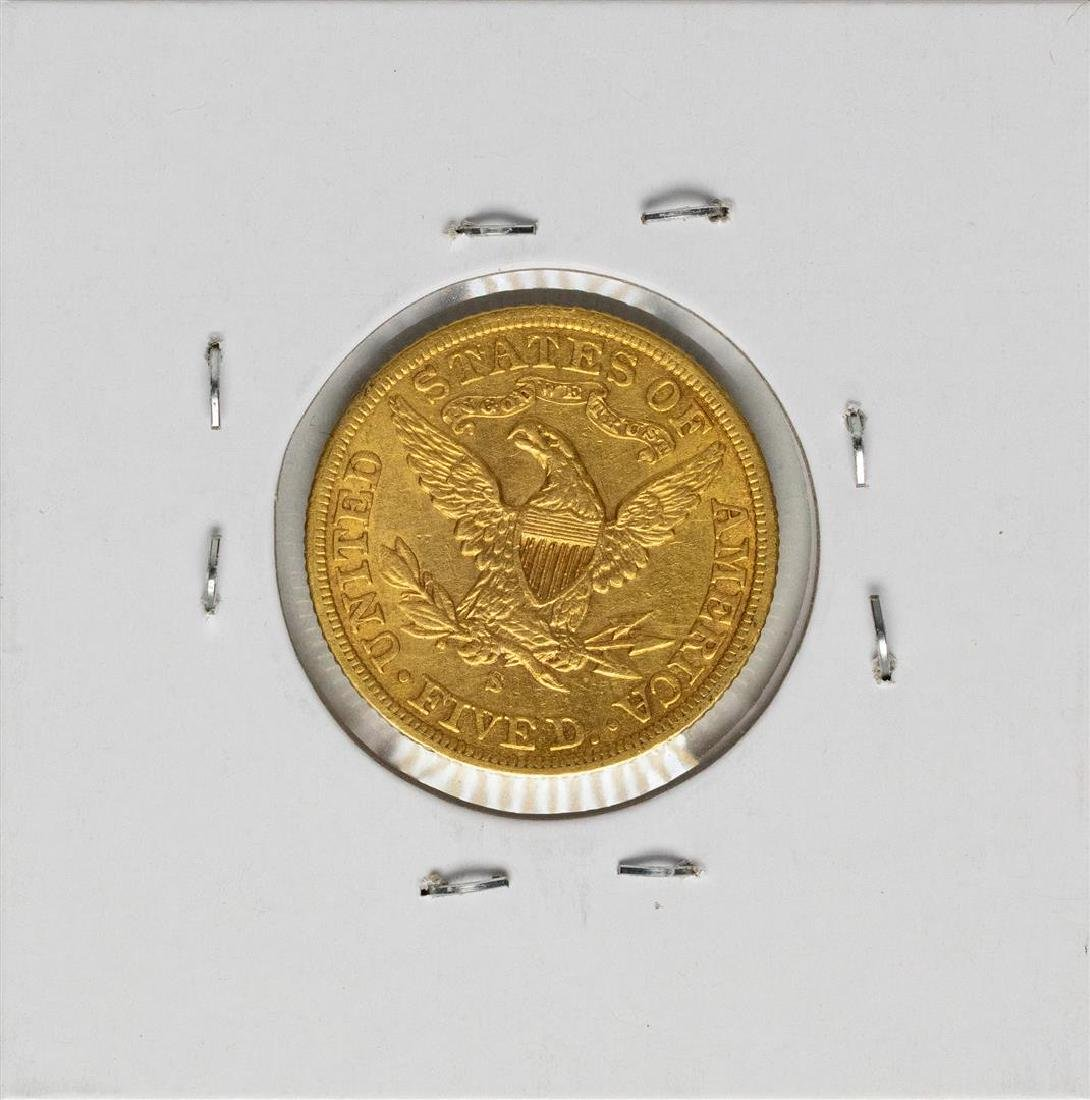 1901-S $5 Liberty Head Half Eagle Gold Coin - 2