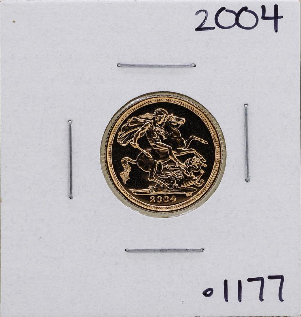 2004 Great Britain Elizabeth II 1/2 Sovereign Gold Coin