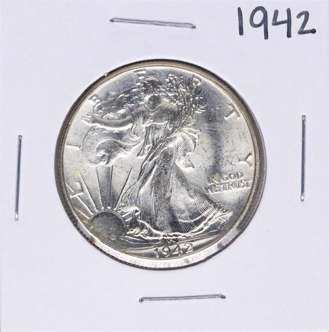 1942 Walking Liberty Half Dollar Coin