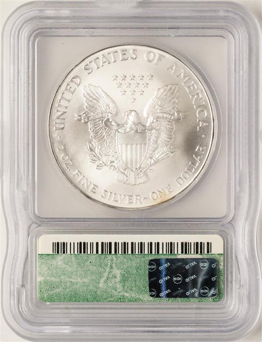 2000 $1 American Silver Eagle Coin ICG MS69 - 2