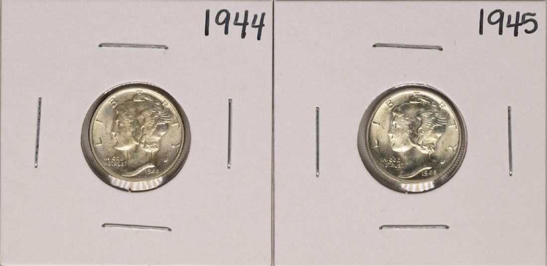 Lot of 1944-1945 Mercury Dime Coins